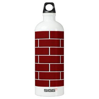 RED BRICK WALL pattern Aluminum Water Bottle