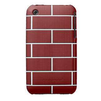 RED BRICK WALL pattern iPhone 3 Case-Mate Case