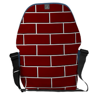 RED BRICK WALL pattern Messenger Bag