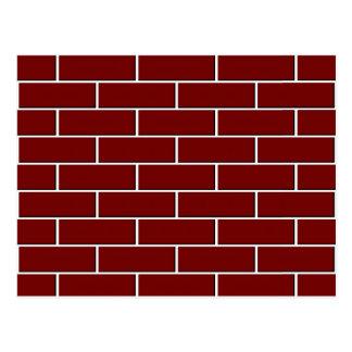 RED BRICK WALL pattern Postcard