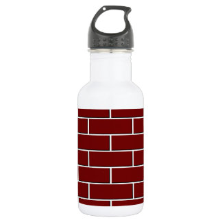 RED BRICK WALL pattern Stainless Steel Water Bottle