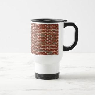 Red Brick Wall Pattern Travel Mug