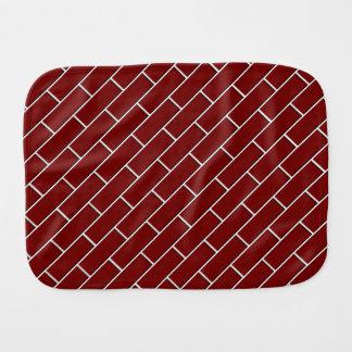 RED BRICK WALL pattern Baby Burp Cloths