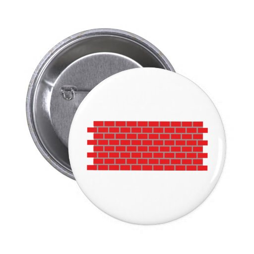 red brick wall pinback button