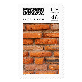 Red Brick Wall Postage Stamp