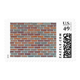 Red Brick Wall: Postage Stamp