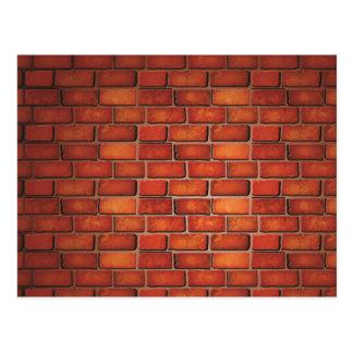 Red brick wall postcard