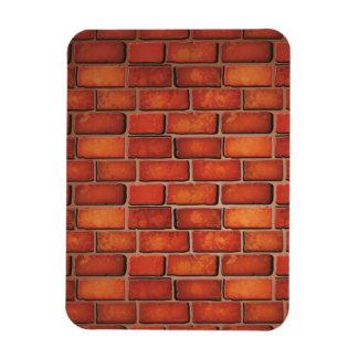 Red brick wall rectangular photo magnet