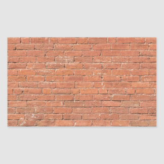 Red Brick Wall Rectangular Sticker