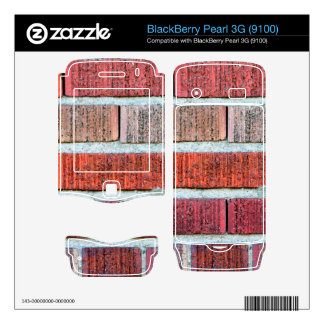 Red Brick Wall BlackBerry Pearl Decals