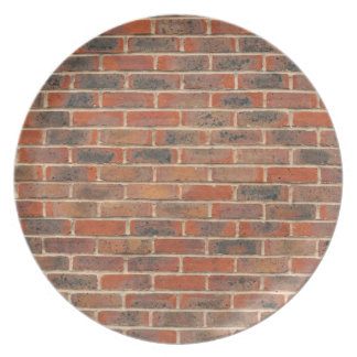 Red brick wall structure party plate