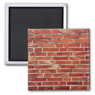 Red Brick Wall Texture 2 Inch Square Magnet