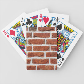 Red Brick Wall Texture Bicycle Playing Cards