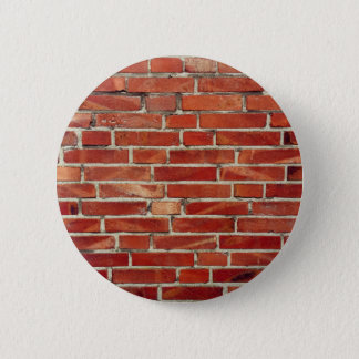 Red Brick Wall Texture Button