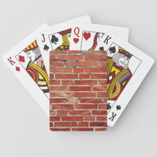 Red Brick Wall Texture Card Deck
