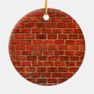 Red Brick Wall Texture Ceramic Ornament