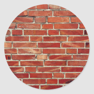 Red Brick Wall Texture Classic Round Sticker