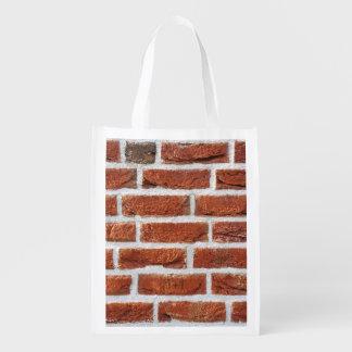 Red Brick Wall Texture Grocery Bag