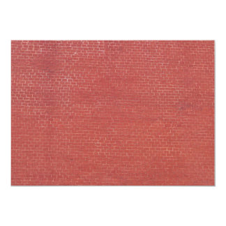 """Red brick wall texture 5"""" x 7"""" invitation card"""