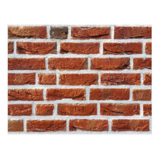 Red Brick Wall Texture Postcard