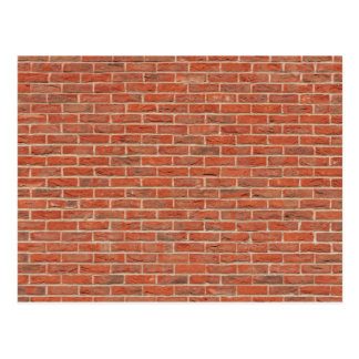 Red brick wall texture postcard