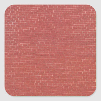Red brick wall texture square sticker