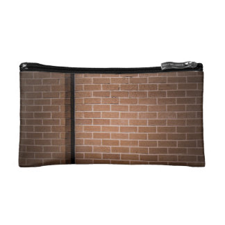 Red Brick Wall Textured Cosmetic Bag