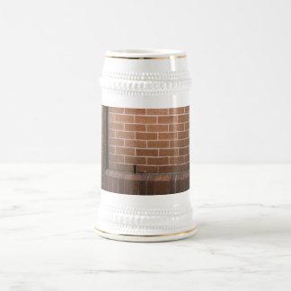 Red Brick Wall Textured Beer Stein
