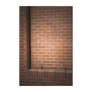 Red Brick Wall Textured Canvas Print