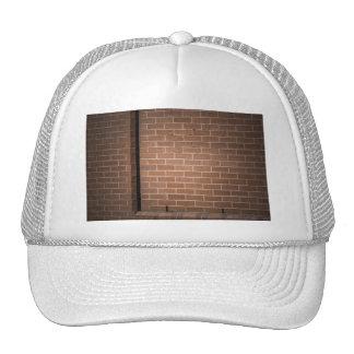 Red Brick Wall Textured Trucker Hats