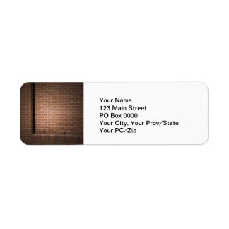 Red Brick Wall Textured Labels