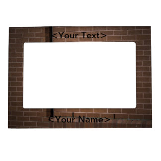 Red Brick Wall Textured Magnetic Frame