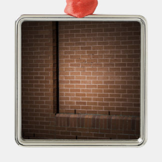 Red Brick Wall Textured Christmas Ornaments