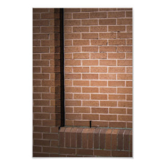 Red Brick Wall Textured Photographic Print