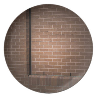 Red Brick Wall Textured Plate