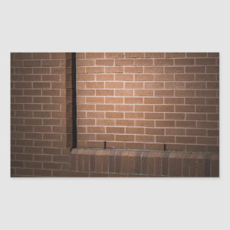 Red Brick Wall Textured Rectangular Sticker