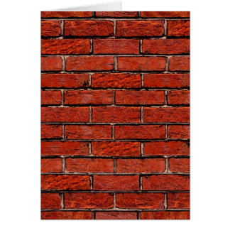 Red Brick Wall too ~ Card