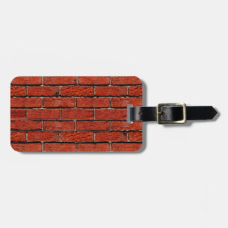 Red Brick Wall too ~ Tags For Luggage