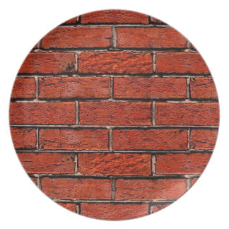 Red Brick Wall too ~ Dinner Plate