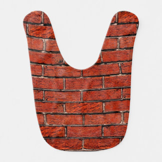 Red Brick Wall too ~ Baby Bibs