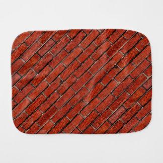 Red Brick Wall too ~ Burp Cloths