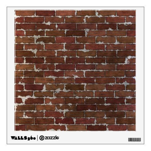 Red Brick Wall Wall Sticker