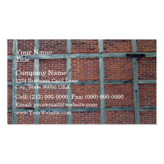 Red Brick Wall With Repetitive Square Patterns Double-Sided Standard Business Cards (Pack Of 100)