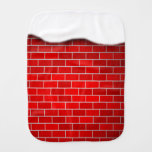 Red Brick with Snow Drift - Snowy Top Baby Burp Cloths