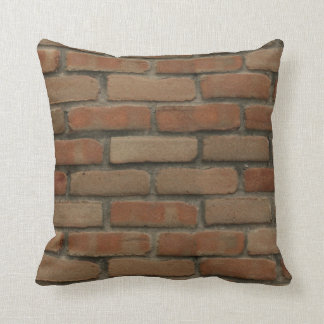 Red Bricks Throw Pillow