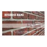 Red Bricks Wall Business Card