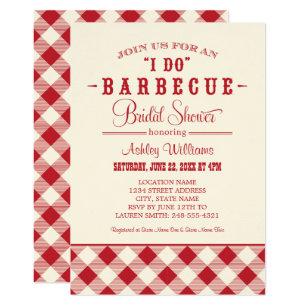 red bridal shower invitation i do bbq