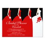 Red Bride Bridesmaids Bridal Shower Invitation