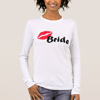 Red bride lips long sleeve T-Shirt