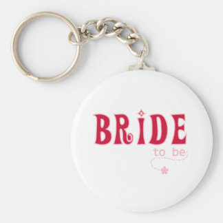 Red Bride to Be Basic Round Button Keychain